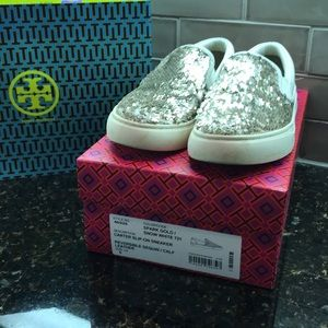 Tory Burch Carter Slip On- Size 6- Flip Sequin